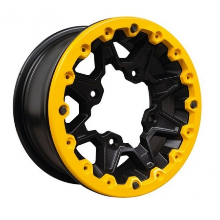 Пластина дисковая на колесо желтый Yellow Reinforcement Disc. XXC Black
