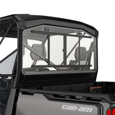 Rear Glass Window with Sliding Panel